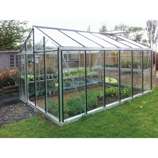 Gew.Haus Theia SENIOR HOBBY, Alu mit Securitglas 4mm 236x458 cm