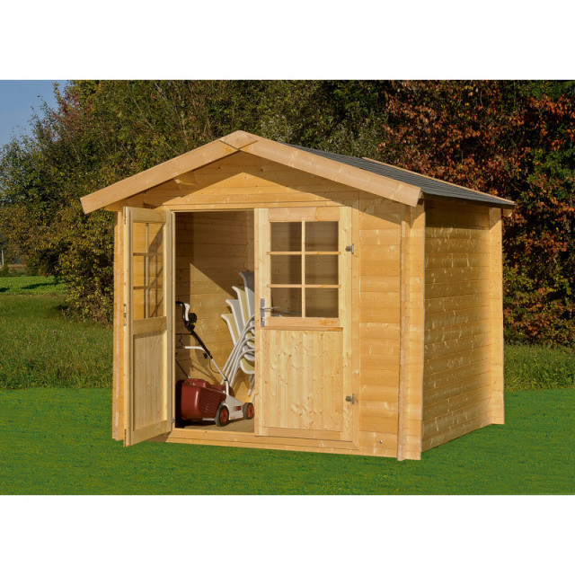 Blockhaus Paul,28mm naturb. (800.181) 240x200x235 cm