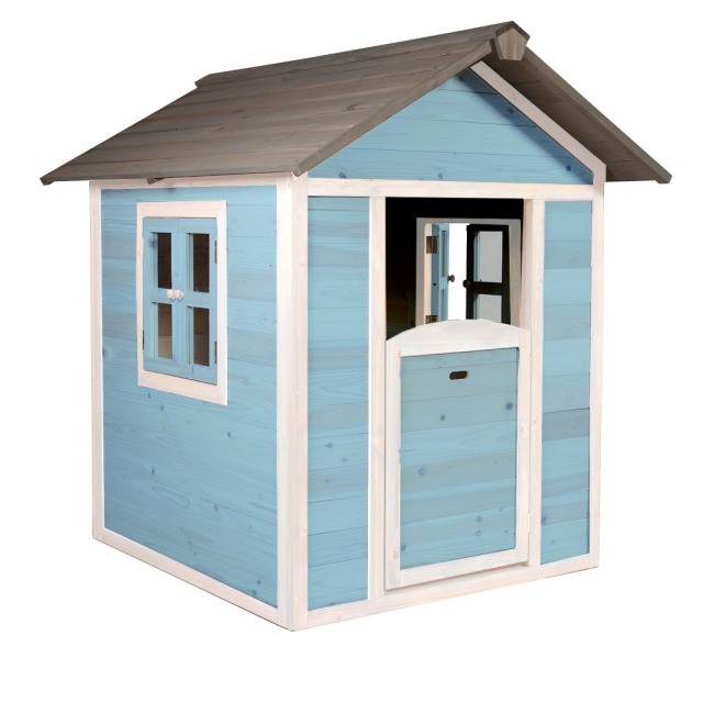 Kinderspielhaus Lodge blue/white 111 x 135 x 133 cm
