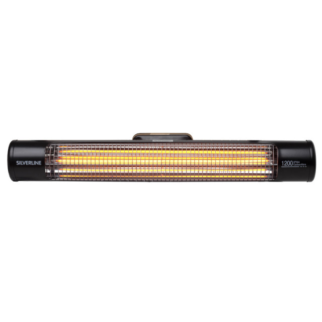 Silverline Greener Patio Heater (Wand) Comfort1200W Wall IPX4,schwarz75xD10cm