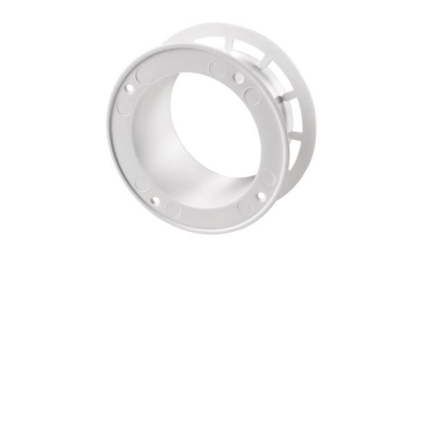 Tellerventil PVC weiß mit Flansch Ø150mm