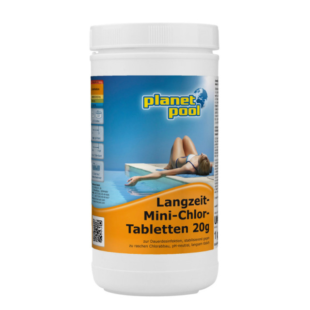 Langzeit-Chlor-Tabletten 20 g 1 kg Planet Pool