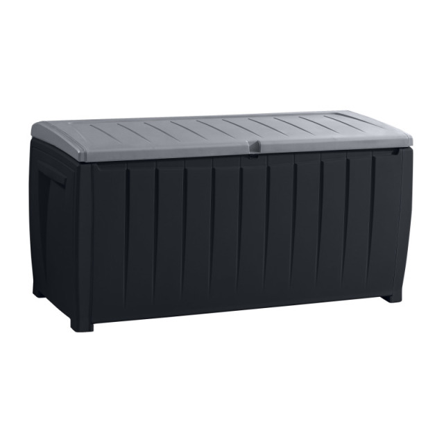 Novel Storage Box schwarz/grau 125 x 55 x 63 cm