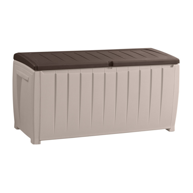 Novel Storage Box beige/espresso braun 125 x 55 x 63 cm