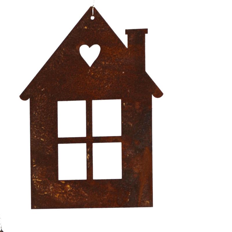 kleines Haus zum Hängen, mit Herz H13,4cm, B9,5cm, - Neogard AG