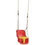 Babysitz rot/gelb mit 2.5m PP Seil (0950.234) / 36 x 39 x 49.1 cm