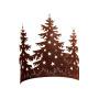 3 Tannenbäume mit Sternen H 40 cm, B 58 cm
