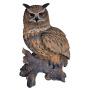 Adler Eule, Polyresin, braun H 60 cm